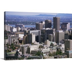 Large Gallery-Wrapped Canvas Wall Art Print 30 x 20 entitled View over Montreal from Mont Royal, Quebec, Canada, North Ame...