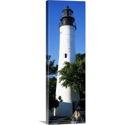 Large Gallery-Wrapped Canvas Wall Art Print 10 x 30 entitled Lighthouse, Key West, Florida