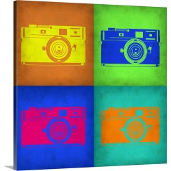 Large Gallery-Wrapped Canvas Wall Art Print 20 x 20 entitled Camera Pop Art I