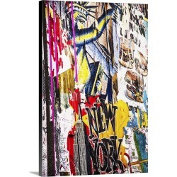 Large Gallery-Wrapped Canvas Wall Art Print 20 x 30 entitled Graffiti on wall in New York City