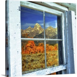 Large Gallery-Wrapped Canvas Wall Art Print 20 x 18 entitled A Window Reflection of Beauty found on Bargain Bro India from Great Big Canvas - Dynamic for $204.99