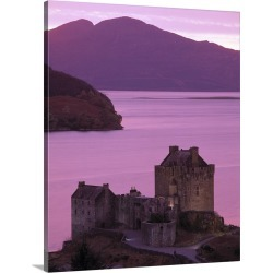 Large Solid-Faced Canvas Print Wall Art Print 24 x 30 entitled Highlands by the Sea in Scotland