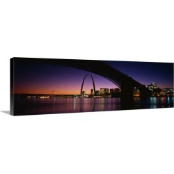 Large Solid-Faced Canvas Print Wall Art Print 48 x 16 entitled St. Louis MO
