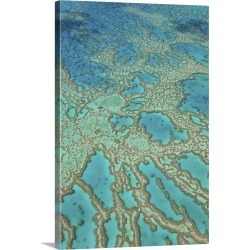 Large Gallery-Wrapped Canvas Wall Art Print 16 x 24 entitled Great Barrier Reef, Queensland, Australia