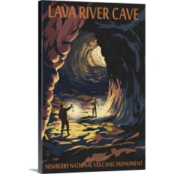 Large Gallery-Wrapped Canvas Wall Art Print 16 x 24 entitled Lava River Cave, Lava Lands, Oregon found on Bargain Bro India from Great Big Canvas - Dynamic for $169.99
