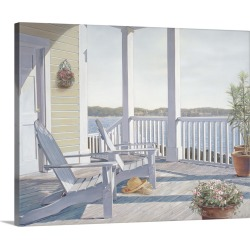 Large Solid-Faced Canvas Print Wall Art Print 30 x 24 entitled Shades of Summer I