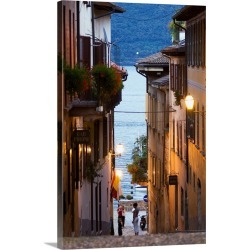 Large Solid-Faced Canvas Print Wall Art Print 20 x 30 entitled Italy, Piedmont, Lake Maggiore, Verbano-Cusio Ossola district