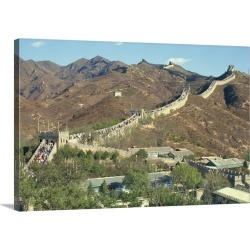 Large Solid-Faced Canvas Print Wall Art Print 30 x 20 entitled The Great Wall of China, near Beijing, China, Asia