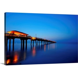 Large Solid-Faced Canvas Print Wall Art Print 30 x 20 entitled Sunrise at dania beach park, South Florida