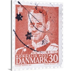 Large Solid-Faced Canvas Print Wall Art Print 24 x 30 entitled Kongelig Post Danmark Postage Stamp, 30 ore found on Bargain Bro India from Great Big Canvas - Dynamic for $189.99