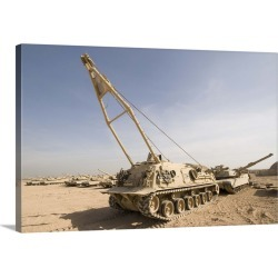 Large Solid-Faced Canvas Print Wall Art Print 36 x 24 entitled M88 recovery vehicle at Camp Warhorse found on Bargain Bro Philippines from Great Big Canvas for $259.99