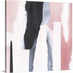 Large Solid-Faced Canvas Print Wall Art Print 20 x 20 entitled Blush & Onyx I