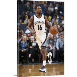 Large Gallery-Wrapped Canvas Wall Art Print 20 x 30 entitled Toney Douglas 16 of the Memphis Grizzlies handles the ball du... found on Bargain Bro India from Great Big Canvas - Dynamic for $229.99