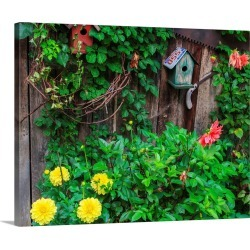 Large Gallery-Wrapped Canvas Wall Art Print 24 x 19 entitled Bird House