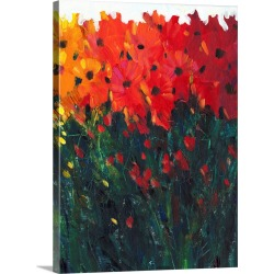Large Solid-Faced Canvas Print Wall Art Print 30 x 40 entitled Color Spectrum Flowers I found on Bargain Bro Philippines from Great Big Canvas - Dynamic for $274.99