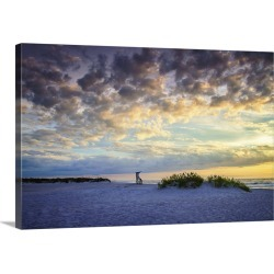 Large Solid-Faced Canvas Print Wall Art Print 30 x 20 entitled Late Summer Sunrise III