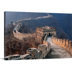 Large Gallery-Wrapped Canvas Wall Art Print 24 x 16 entitled Great Wall of China at Sunset found on Bargain Bro India from Great Big Canvas - Dynamic for $169.99