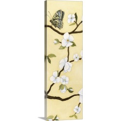 Large Solid-Faced Canvas Print Wall Art Print 16 x 48 entitled Eastern Blossom Triptych III