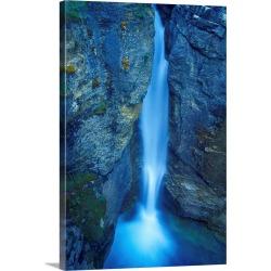 Large Solid-Faced Canvas Print Wall Art Print 20 x 30 entitled A Beautiful Waterfall, Alberta,  Canada