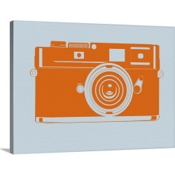 Large Gallery-Wrapped Canvas Wall Art Print 30 x 23 entitled Orange Camera
