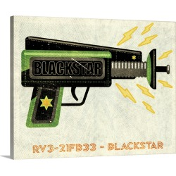 Large Gallery-Wrapped Canvas Wall Art Print 20 x 16 entitled Blackstar Ray Gun found on Bargain Bro India from Great Big Canvas - Dynamic for $189.99