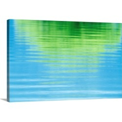 Large Solid-Faced Canvas Print Wall Art Print 30 x 20 entitled Reflection of a tree in water