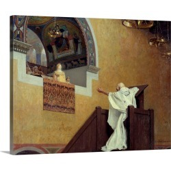 Large Gallery-Wrapped Canvas Wall Art Print 20 x 16 entitled Saint John Chrysostom confronting the Empress Eudoxia by Jean...