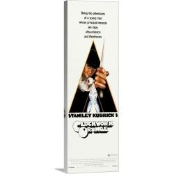 Large Solid-Faced Canvas Print Wall Art Print 12 x 36 entitled A Clockwork Orange - Vintage Movie Poster