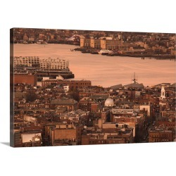 Large Gallery-Wrapped Canvas Wall Art Print 24 x 15 entitled High angle view of buildings in Boston, Little Italy, North E... found on Bargain Bro India from Great Big Canvas - Dynamic for $209.99