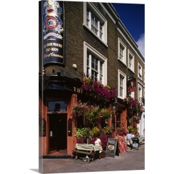 Large Solid-Faced Canvas Print Wall Art Print 20 x 30 entitled England, London, The Moore Arms Pub in Moore street