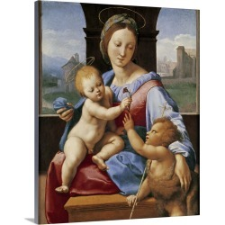 Large Solid-Faced Canvas Print Wall Art Print 24 x 30 entitled The Aldobrandini Madonna or The Garvagh Madonna