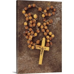 Large Gallery-Wrapped Canvas Wall Art Print 16 x 24 entitled Rosary crucifix
