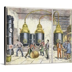Large Solid-Faced Canvas Print Wall Art Print 30 x 24 entitled Distillery, 19th century