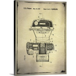 Large Gallery-Wrapped Canvas Wall Art Print 23 x 30 entitled Camera Patent Buff