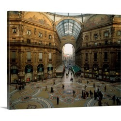 Large Gallery-Wrapped Canvas Wall Art Print 20 x 16 entitled Italy, Milan, Vittorio Emanuele II Gallery