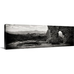 Large Gallery-Wrapped Canvas Wall Art Print 30 x 10 entitled Great Wall of China found on Bargain Bro India from Great Big Canvas - Dynamic for $134.99
