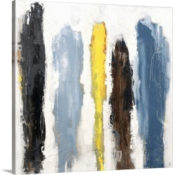Large Solid-Faced Canvas Print Wall Art Print 20 x 20 entitled Lonely City