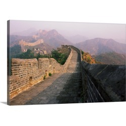 Large Gallery-Wrapped Canvas Wall Art Print 24 x 16 entitled Great Wall of China, near Beijing, China, Asia found on Bargain Bro India from Great Big Canvas - Dynamic for $174.99