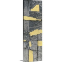 Large Solid-Faced Canvas Print Wall Art Print 16 x 48 entitled Lemon on Grey III