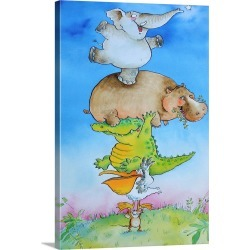 Large Gallery-Wrapped Canvas Wall Art Print 16 x 24 entitled Super Mouse found on Bargain Bro India from Great Big Canvas - Dynamic for $214.99