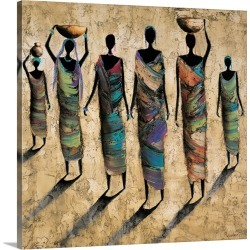 Large Solid-Faced Canvas Print Wall Art Print 20 x 20 entitled Travel By Day