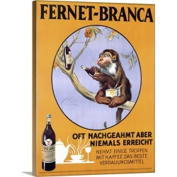 Large Gallery-Wrapped Canvas Wall Art Print 17 x 24 entitled Fernet Branca,Vintage Poster, by Aldo Mazza found on MODAPINS from Great Big Canvas - Dynamic for USD $179.99