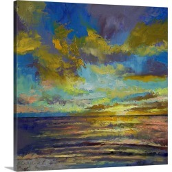 Large Gallery-Wrapped Canvas Wall Art Print 20 x 20 entitled Sunset Key Largo