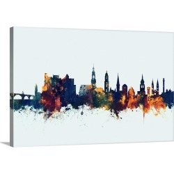 Large Gallery-Wrapped Canvas Wall Art Print 30 x 20 entitled Heidelberg Germany Skyline