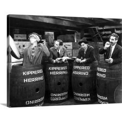 Large Gallery-Wrapped Canvas Wall Art Print 24 x 18 entitled Harpo Marx, Zeppo Marx, Chico Marx, Groucho Marx in Monkey Bu... found on Bargain Bro India from Great Big Canvas - Dynamic for $234.99