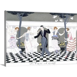 Large Gallery-Wrapped Canvas Wall Art Print 24 x 17 entitled 'Love is Blind', engraved by Henri Reidel, 1920 found on Bargain Bro India from Great Big Canvas - Dynamic for $229.99