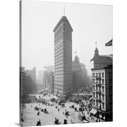 Large Gallery-Wrapped Canvas Wall Art Print 19 x 24 entitled The Flatiron Building in New York City, 1905