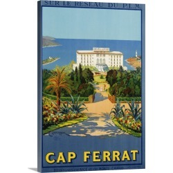 Large Gallery-Wrapped Canvas Wall Art Print 16 x 24 entitled Cap Ferrat Poster By C. Couronneau found on Bargain Bro India from Great Big Canvas - Dynamic for $169.99