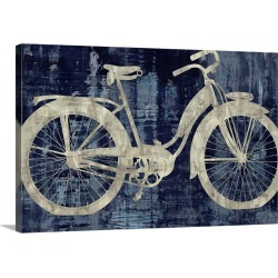 Large Gallery-Wrapped Canvas Wall Art Print 24 x 16 entitled Vintage Ride In Blue found on Bargain Bro India from Great Big Canvas - Dynamic for $159.99
