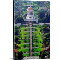 Large Gallery-Wrapped Canvas Wall Art Print 16 x 24 entitled Middle East, Israel, Haifa, View towards the Bahai Temple found on Bargain Bro India from Great Big Canvas - Dynamic for $169.99